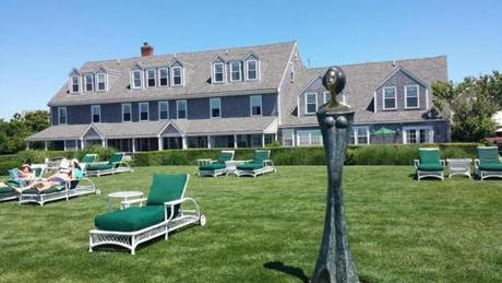 The Barnacle Inn (above), a rambling property with beautiful gardens, is just a few blocks from Nantucket's downtown.